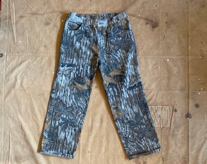 80s Camouflage Jeans Real Tree 30 waist