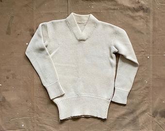 50s Wool Sweater Hand Knit