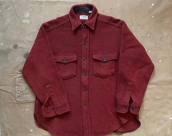 80s LL Bean Wool Shirt Jacket denim weave
