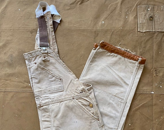 70s Carhartt Overalls double Knee distressed / repairs