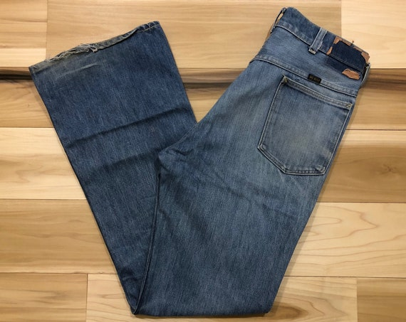 70s Big Yank Bootcut Jeans Faded