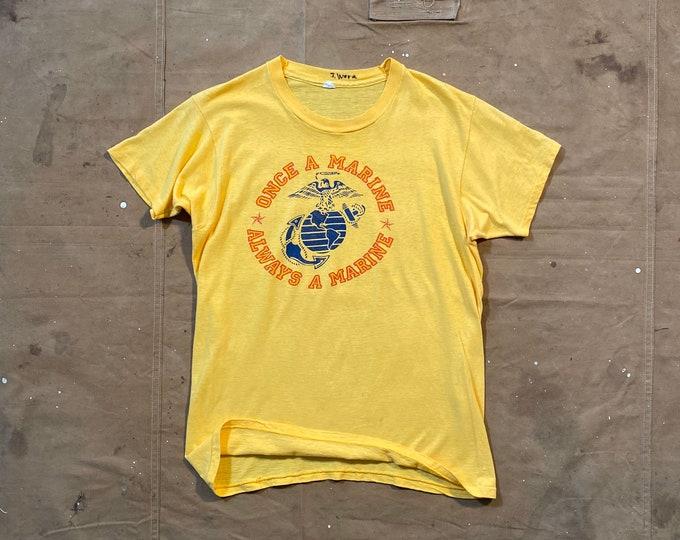 Paper thin '70s USMC t-shirt Always a Marine