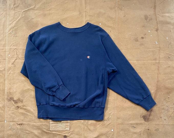 Sun Faded '80s Champion Reverse Weave Blue blank