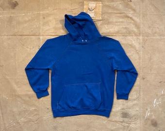 70s Hoodie Faded Blue Sweatshirt