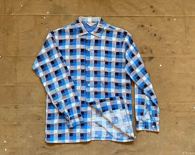 40s Flannel Plaid Button down by Pennleigh