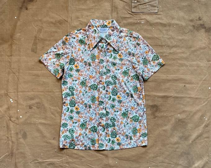 1970s Floral Print Shirt