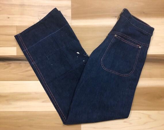 1940s Workwear Jeans Wide leg Painter Pants High Waist 28 waist