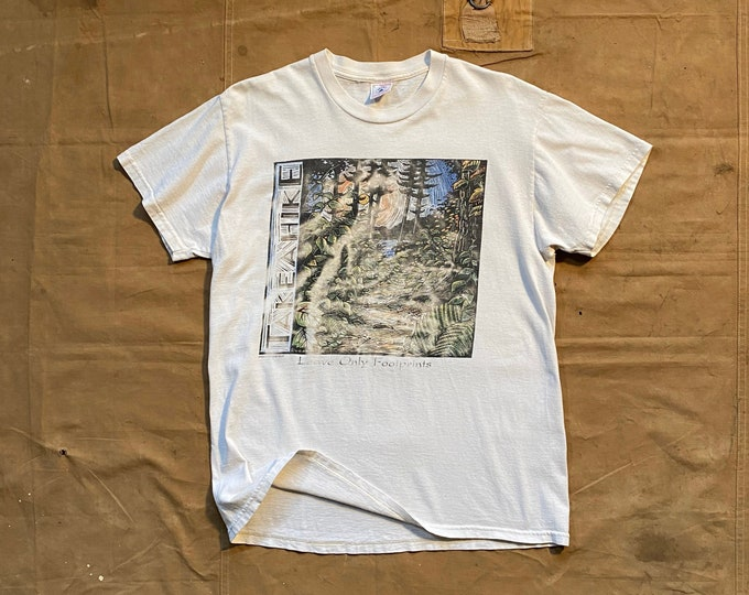 90s Project Earth T-shirt Leave no Footprint