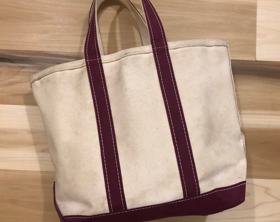 80s LL Bean Boat and Tote Canvas Bag Made In USA