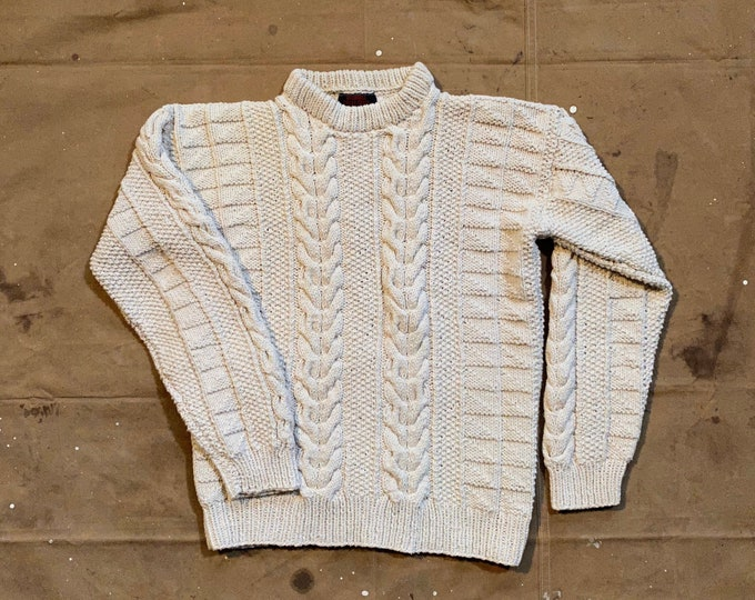 Fishermans Sweater Chunky Knit O'Connell Lucas-Chelf