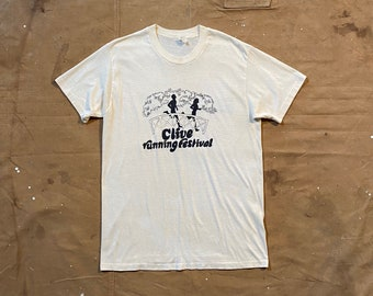 80s Clive Running Festival T-Shirt double sided