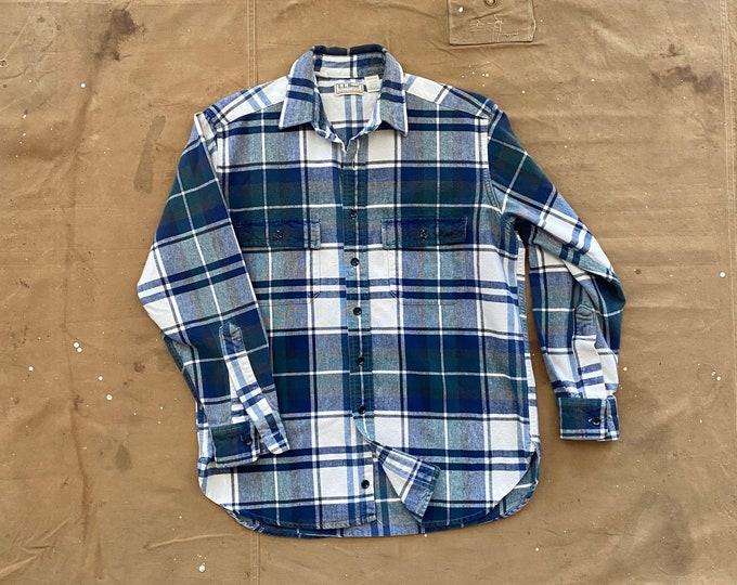 Plaid '80s LL Bean Chamois Shirt USA