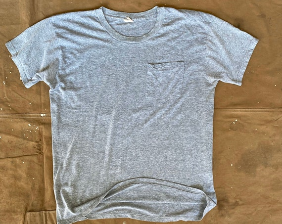Pocket tee Fruit of the Loom Paper thin Gray