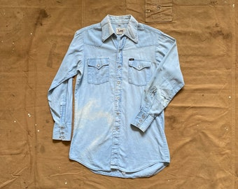 Sun faded LEE Chambray Western Shirt