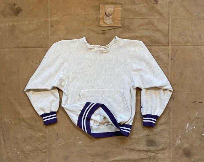 90s Reverse Weave Hoodie Champion Sweatshirt Tri blend