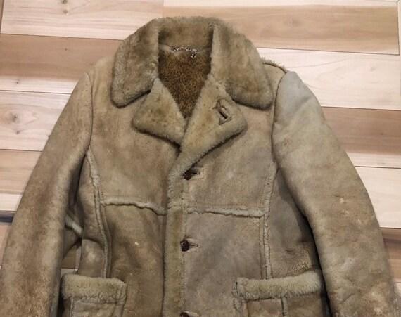 Shearling Jacket Distressed Sheepskin