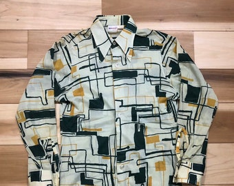 af79e982 Wrangler 70s polyester Shirt Button down