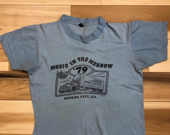 Hank Williams Jr Shirt Music in the meadow 1979