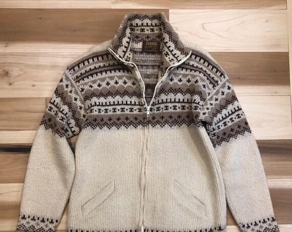 70s Tundra Wool Sweater Made in Canada