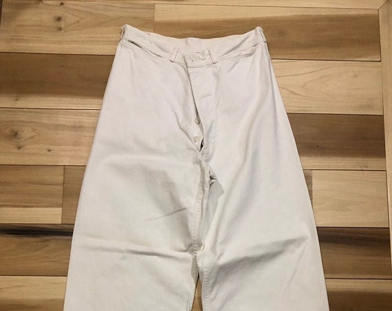 1940s Sailor Pants 28 Waist US Naval Reserve Clothing WWII