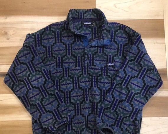 Pattern 90s Patagonia Snap T Made in USA