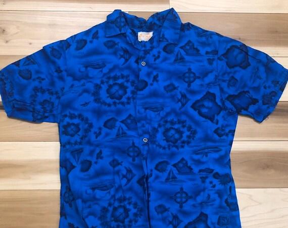 Ui Maikai 1950s Hawaiian Shirt Island Print