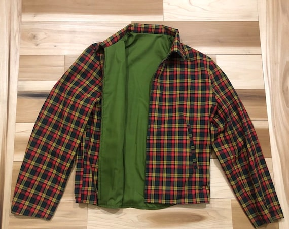 1950s Plaid Jacket Reversible Rockabilly Excellent *