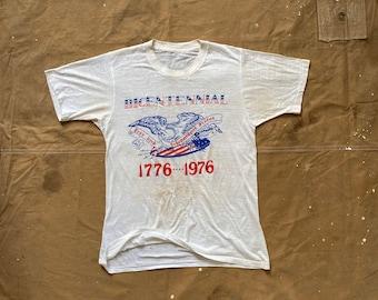70s Bicentennial Tee Threadbare Heavily distressed / repaired