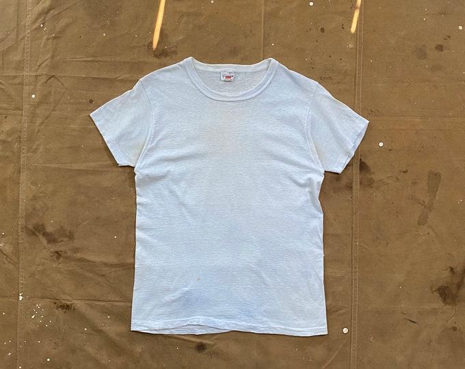 Hanes '60s White T-shirt Reinforced neck