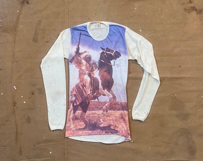 Western '70s Photo Realistic Print T-shirt