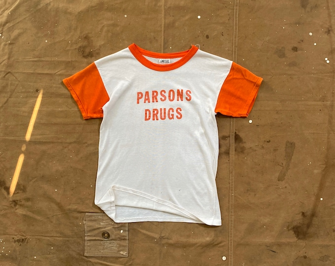 Two Tone '50s Rayon Shirt Parsons Drugs