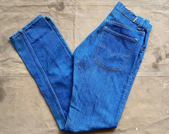 28 waist 70s Levi's 505 Orange tab Dark wash