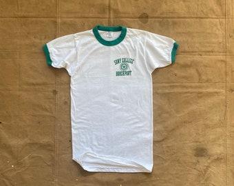 80s Champion T-shirt Brockport Ringer Tee