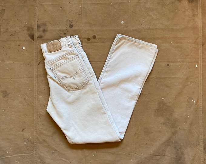 80s Levi's 27 Waist Corduroy Pants Straight Leg