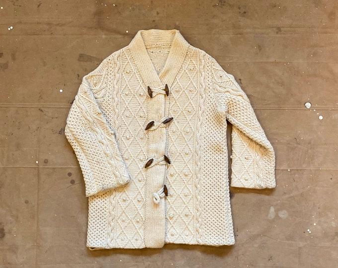 60s Hand Knit Cardigan Sweater