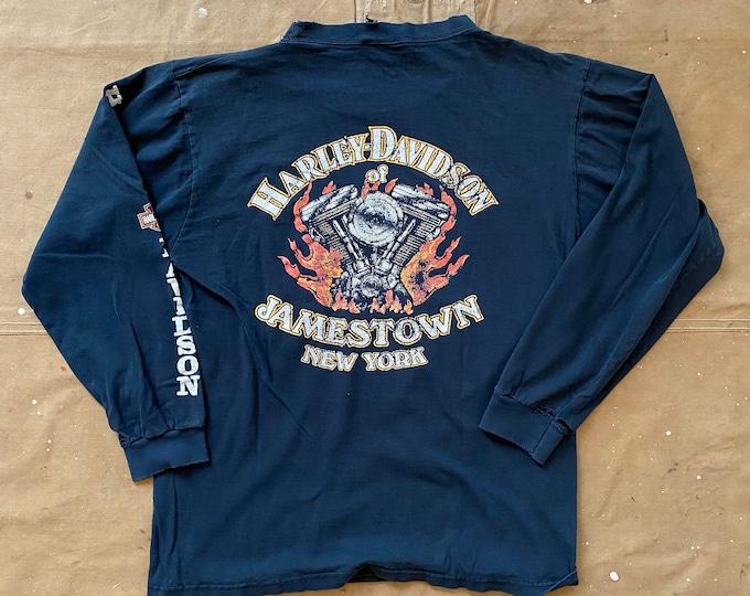 90s V twin Harley Davidson Shirt Double sided Stratman