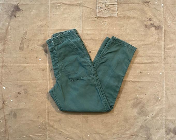 Army Trousers 28 Waist OG 107