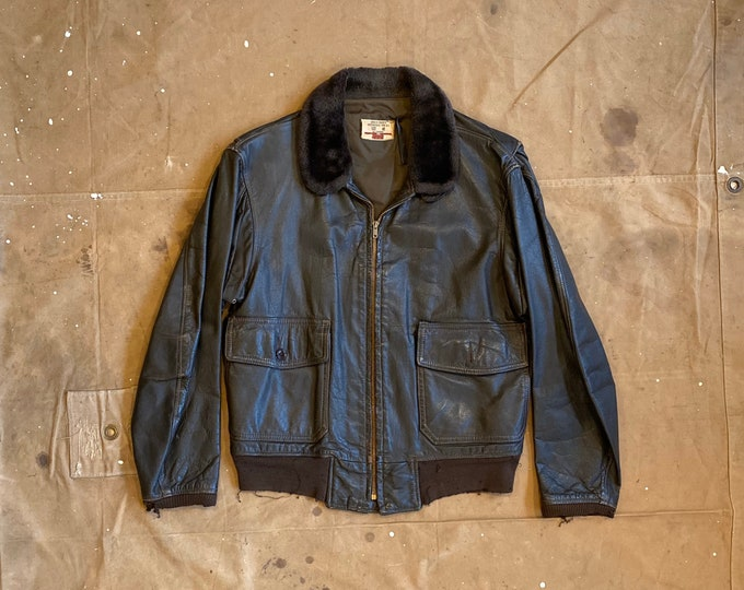 70s G-1 Bomber Jacket distressed