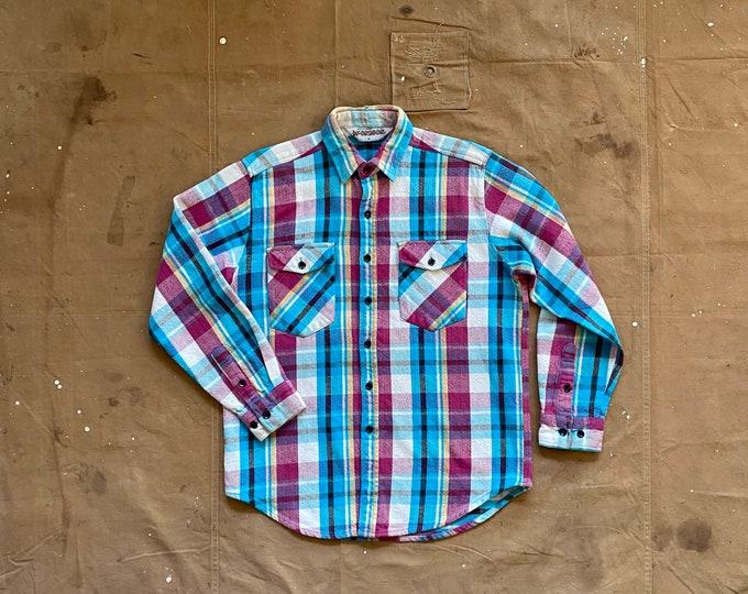 70s Flannel Shirt McGregor Plaid