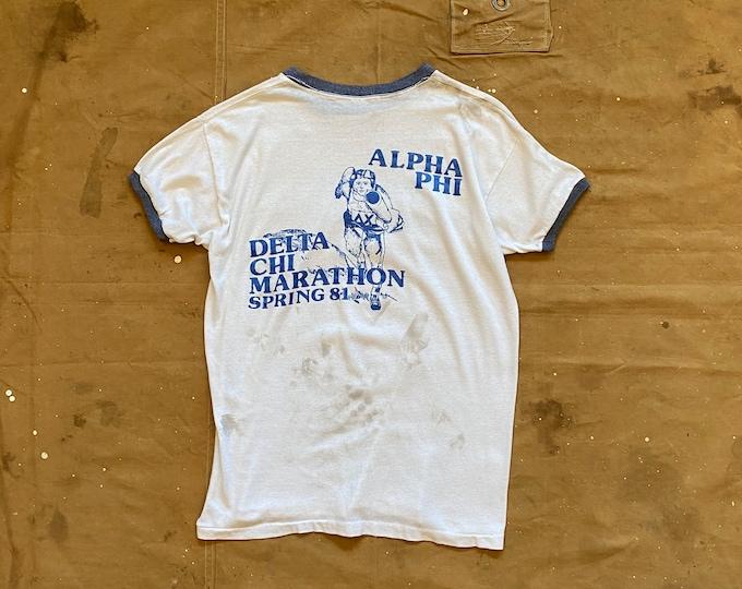 Early 80s Penn State T-Shirt Alpha Phi Delta Chi Marathon