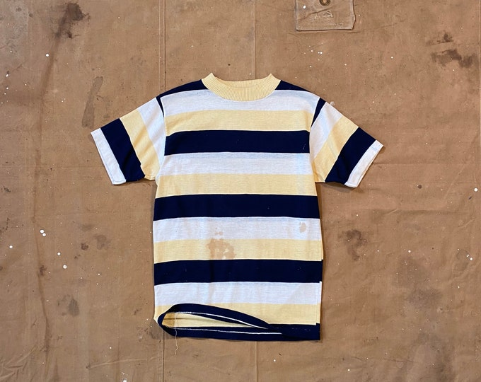 60s Border Stripe T-shirt distressed