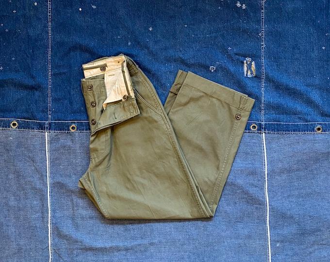 50s OD Field Trousers Korean War27 waist