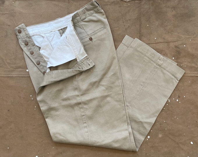 50s Khaki Trousers 29 waist Korean War