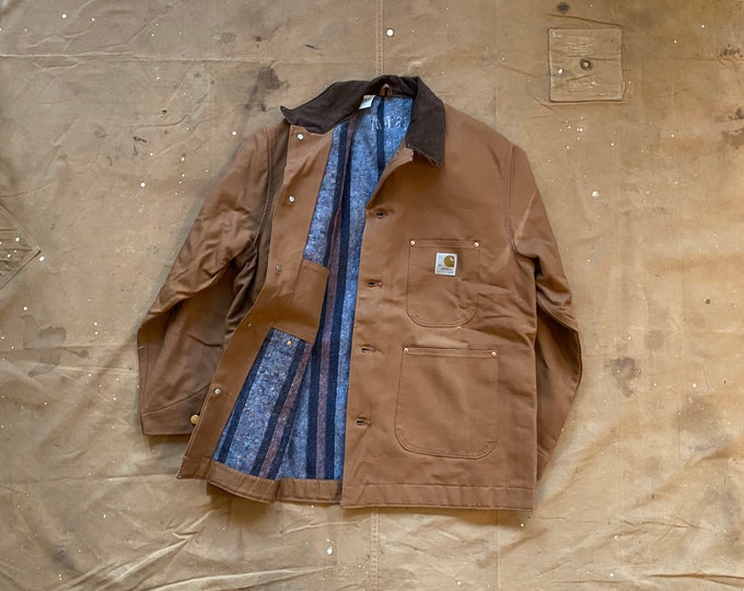 NOS* '80s Carhartt Blanket Lined Coat Made USA Deadstock*