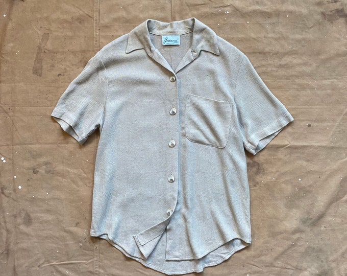 Cotton Khaki Button down