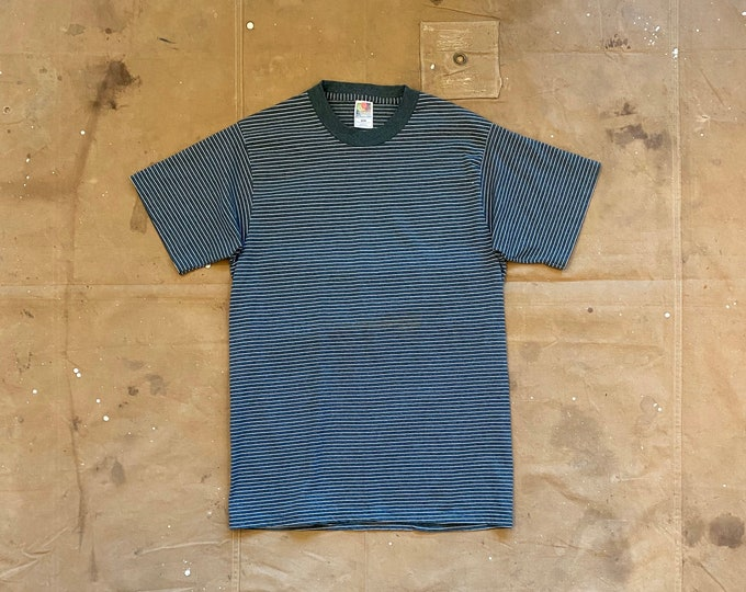 90s Stripe T-shirt Fruit of the loom Single Stitch