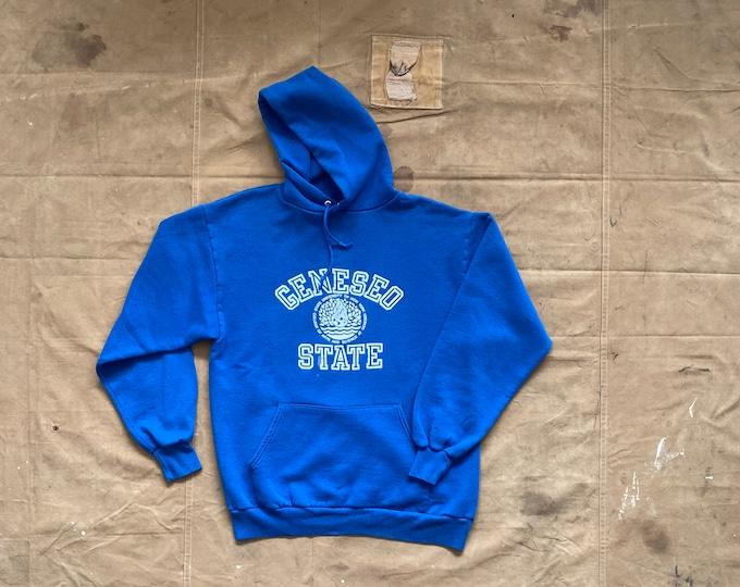 80s Russell Hoodie Geneseo State