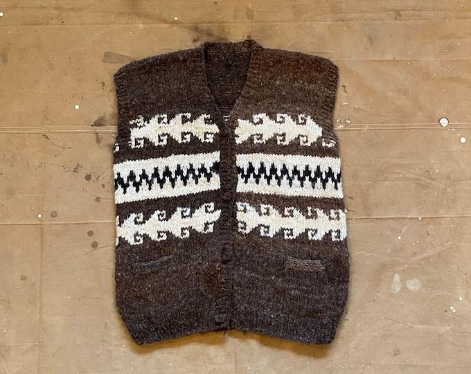 Hand Knit Wool Sweater Vest