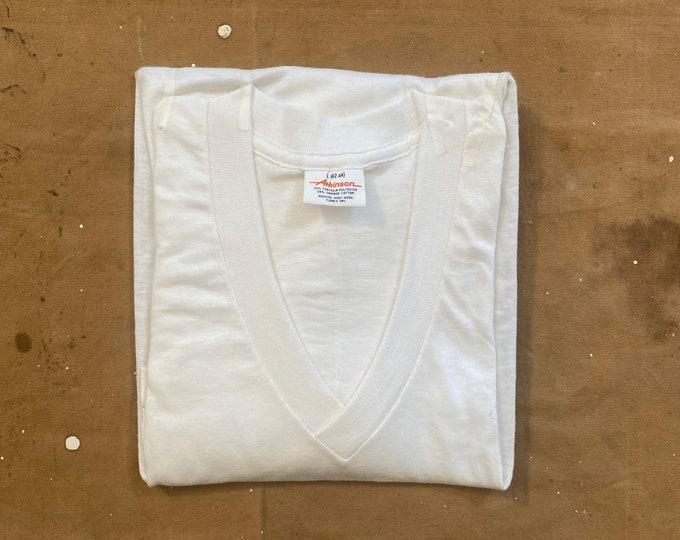 NOS 1960s Atkinson V neck Combed cotton