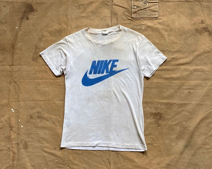 80s NIKE Swoosh T-shirt NYS Basketball Double sided